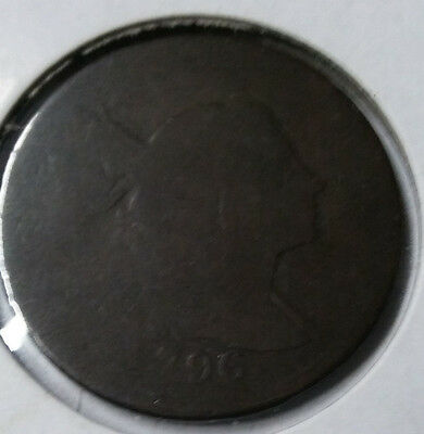 1796 Cap And Pole Flowing Hair Large Cent Very Early Minted Us Coin!