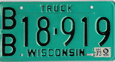 1973 Colorful Wisconsin License Plate Bb 18 919 Bcplateman Free Shipping