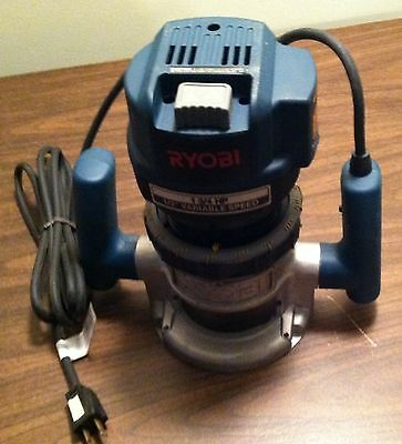 "Ryobi 1 ¾ hp Router 1/4"" Collet, Variable Speed Fixed Plunge Base USED"