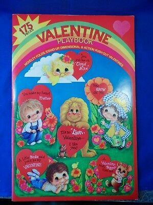 Vintage Valentine Playbook 175 Pieces #8900 Push Out Valentines Fuld & Co Book