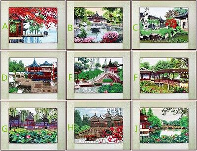"New Finished Completed Embroidery""suzhou Gardern""decor Gifts"