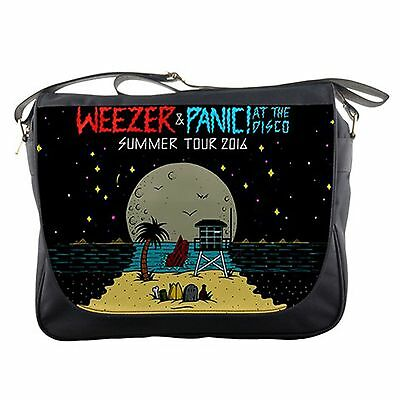 Weezer and Panic! At The Disco SUMMER TOUR Messenger Bag shoulder sling flap NEW