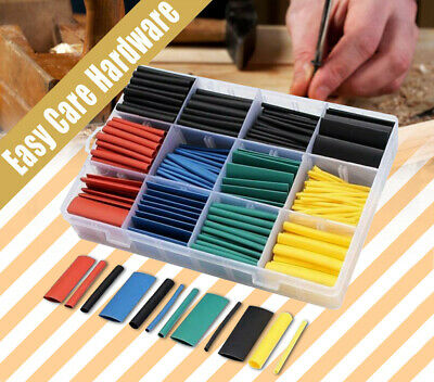 530 pc pcs Heat Shrink Tubing Tube Assortment Wire Cable Insulation Sleeving