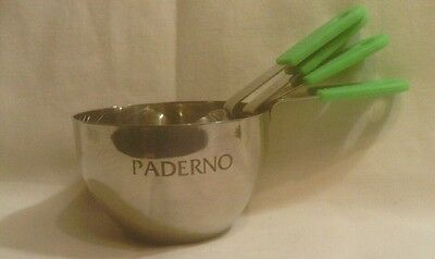 PADERNO Steel Measuring Cups, Set of 4, Green Silicone Handles