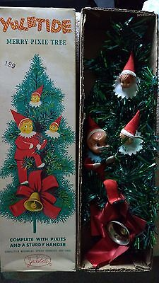 Vintage Yuletide Merry Pixie Tree - Mid-Century Modern Christmas Wall Decor