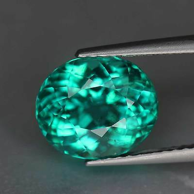 3.51Cts-Oval Cut-Natural-Vivid Paraiba Blue Green-Madagascar-Apatite-GS245