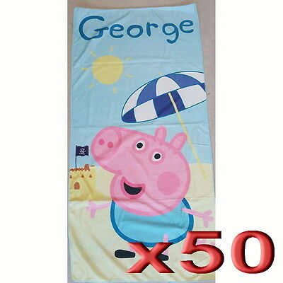 50pc Wholesale Kids Children George the Pirate Bath Beach Towel Clearance Sale