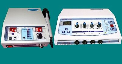 COMBO SALE Electrotherapy Therapy + Ultrasound Therapy MACHINE PAIN RELIEF CBG*&