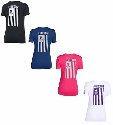 Under Armour Women's UA Freedom WWP Flag Wounded Warrior Project T Shirt - NWT
