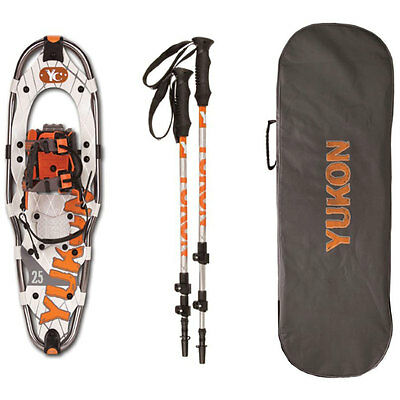 Yukon Charlie's Advanced Series Snowshoe Kit - 9x30 Black/Orange/Gray - NEW