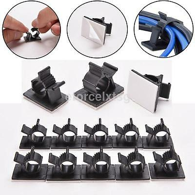 New 3M Adhesive Backed Nylon Wire Cable Clips Clamp Clamps Adjustable Pack of 10