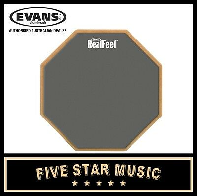 Evans Real Feel 12 Inch 1 Sided Standard Practice Drum Pad Rf12G Realfeel