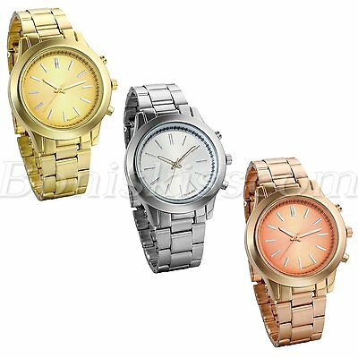 Classical Men's Business Luxury Simple Stainless Steel Band Wrist Watch Watches