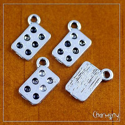 Tiny Muffin Tin charms ~PACK of 4~ baker bakery chef cupcake patty pan silver