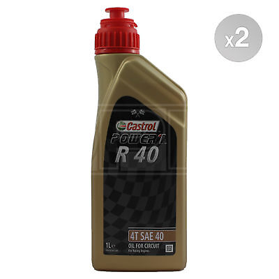 Castrol R 40 SAE 40 4T Racing Engine Oil - 2 x 1 Litre 2L