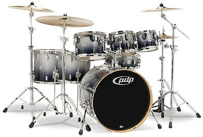 Batteria PDP by DW Concept Maple Silver to Black Sparkle Fade nuova!!!