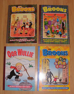 Bundle of 3 The Broons 2005, 2009, 2010 and Oor Wullie 2004 (paperback)