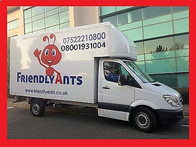 Collection and Delivery Service Man With a Luton Van Courier London