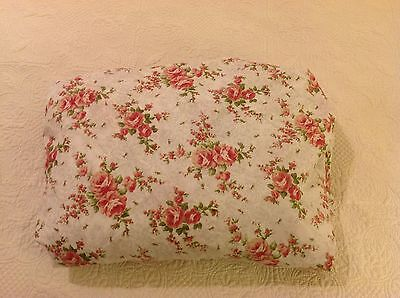 Shabby Romantic Roses Queen Fitted Sheet French Country English Cottage Chic