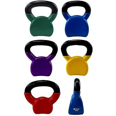 Vinyl Covered Kettlebells Arm & Grip Exercise Strength Home Workout
