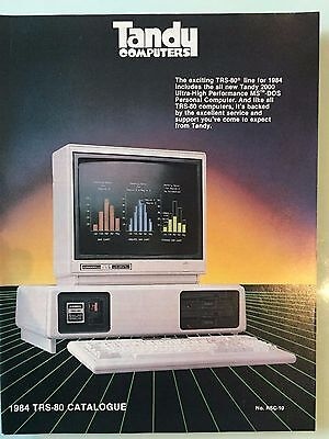 TRS-80 1984 Computer Catalogue RSC-10 from Tandy Electronics Australia