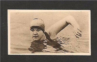 GERTRUDE EDERLE American First woman to swim English Channel 1930 original card
