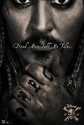 Pirates Of The Caribbean Dead Man Tell No Tales Movie Poster Johnny Depp Bloom