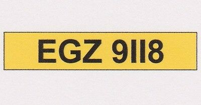 EGZ 9118 - Porsche 911 Budget Priced Number Plate - For Any Age of Vehicle