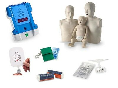 Prestan CPR Manikin AED Training Pads Dressings Lungs Adult Infant First Aid