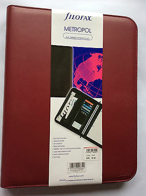 Filofax A4 Metropol zipped with rings red