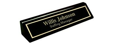 Personalized Piano Black Desk Name Plate