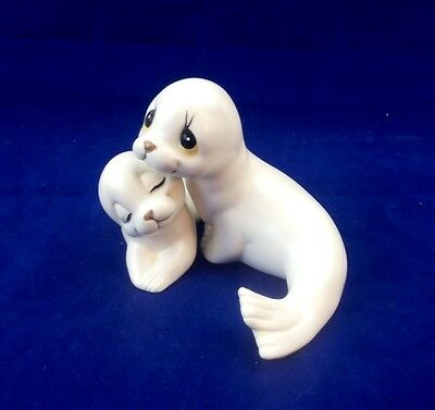 Vintage Oxford Figurines Seal Pair Mother & Pup Mexico