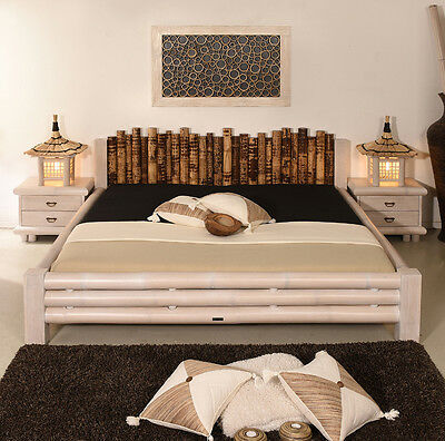 bambusbett 160x200 misool bettrahmen holzbett design bett doppelbett bettgestell eur 679 00. Black Bedroom Furniture Sets. Home Design Ideas