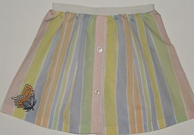 Vintage Upcycled Repurposed 70s Skirt Handmade Pastel Butterfly Patch Girls 4