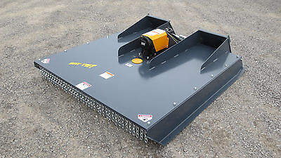 "2017 - 60"" Skid Steer Bobcat Case John Deer Hd Brush Mower Bush Hog Attachment"