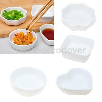 Ceramic Sauce Tray Seasoning Pickle Small Dish Butter Food Saucer Plate PICK