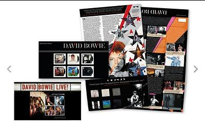 GB 2017 David Bowie Royal Mail Full set Stamps Presentation Pack 2017