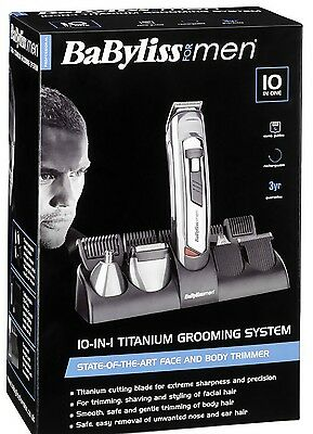 BABYLISS 10 in 1 Salon Professional 22 Pieces Hair Clipper Kit for Men 7235U New