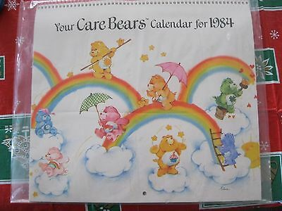 Vintage American Greetings Care Bears Calendar For 1984-Excellent