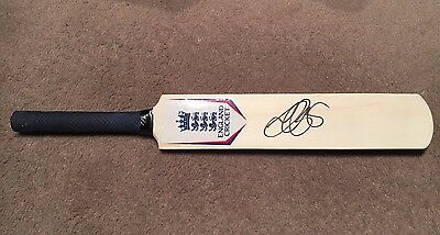 Genuine Alastair Cook Hand Signed Mini Bat w/ Authenticity Guarantee.