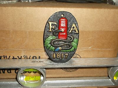 Vintage Reproduction Fire Insurance Company Cast-Iron Wall Plaque