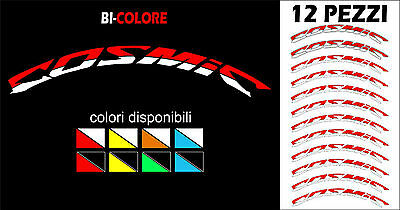 adesivi mavic COSMIC BICOLORE 12 pezzi wheel stickers two-coloured