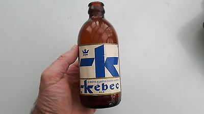 SUPERB  and rare DOW  KÉBEC  STUBBY BEER BOTTLE empty  QUEBEC CANADA