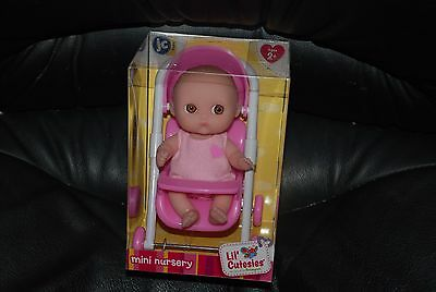 JC Toys Berenguer Lil Cutesies Mini Nursery Collection Baby in Stroller, New