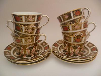 Set Of 6 Royal Crown Derby Imari 1128 Tea Cups And Saucers 1St Quality Perfect