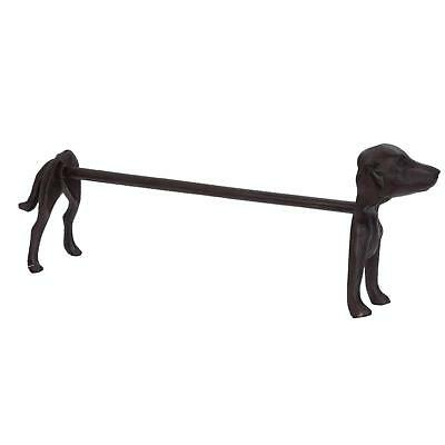 Freestanding Brown Iron Dog Paper Towel Kitchen Roll Holder Accessory