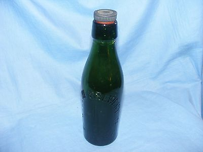 Vintage Old Glass Green Beer Bottle Advertising Wellow Brewery Grimsby