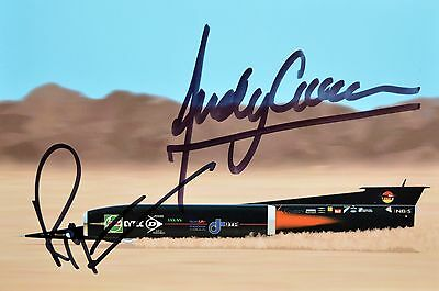 Thrust SSC Andy Green Richard Noble land speed record signed autographed picture