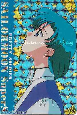 Sailor Moon Sticker Card; supers ami mercury diana luna artemis anime mizuno cat