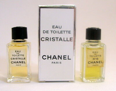 Collection 2 Miniperfumes Chanel: No 19, Cristalle, Only One Box For Collectors
